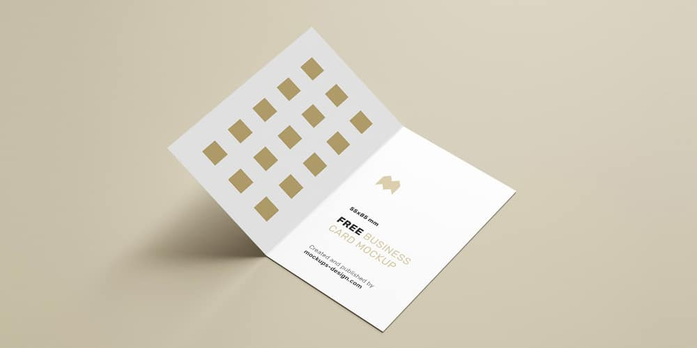 Free Folded Business Card