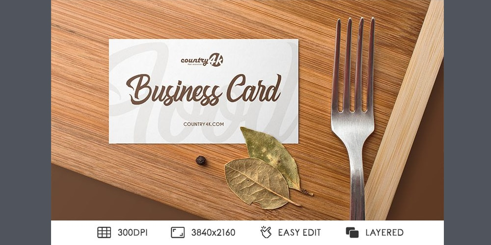 Free Food Business Card