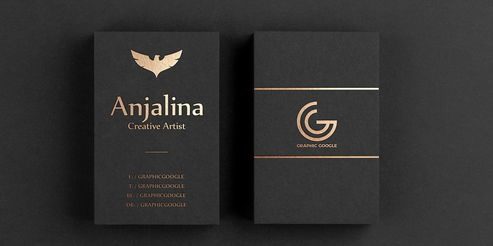 Free Gold Foil Business Card