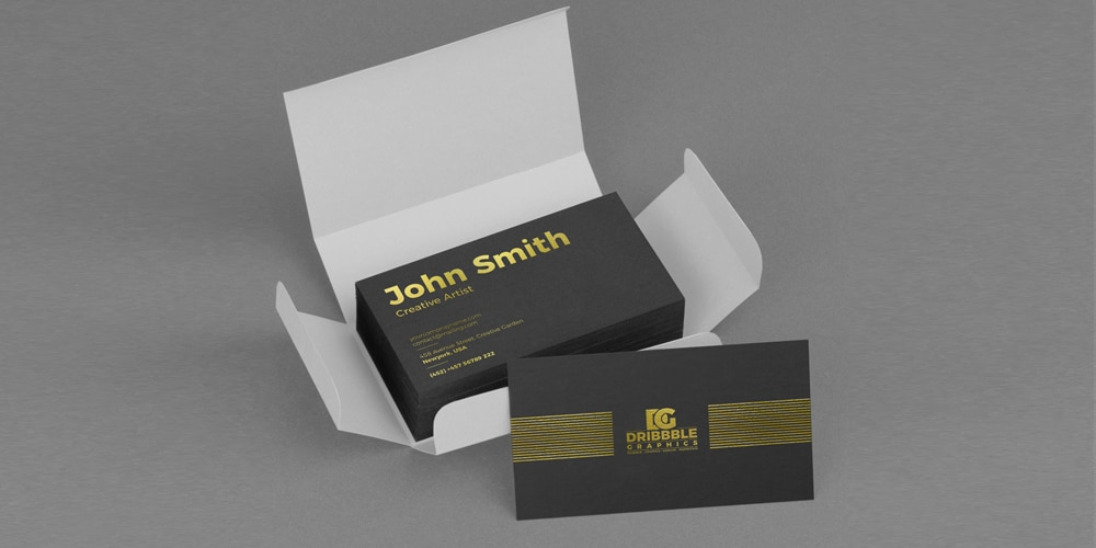 Free Golden Foil Business Card