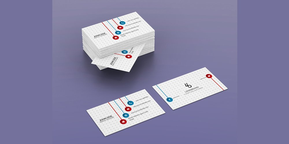 Free Horizontal Bulk Business Card Mockup PSD