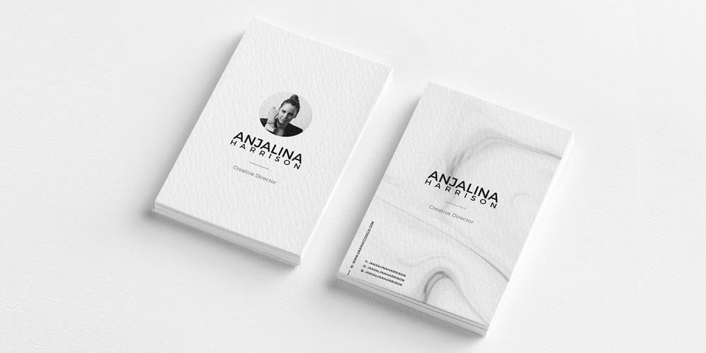 Free Modern Textured Business Card