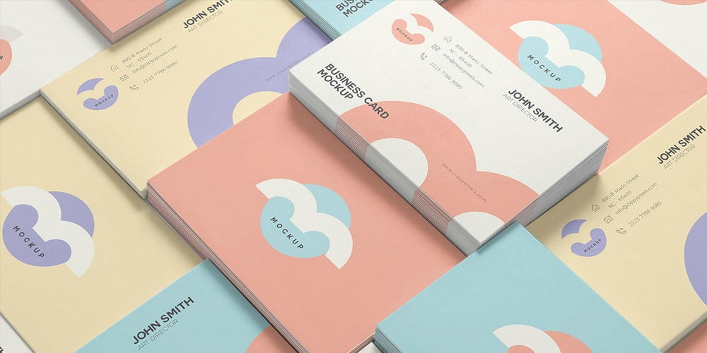 Free Name Card Mock Up PSD