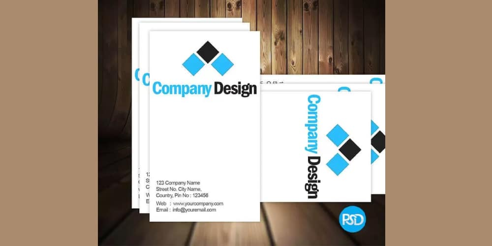 Free Simple Business Card Mockup PSD