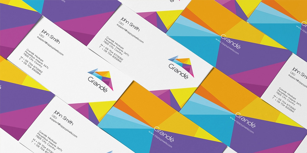 Free Stylish Personal Card Mockup PSD