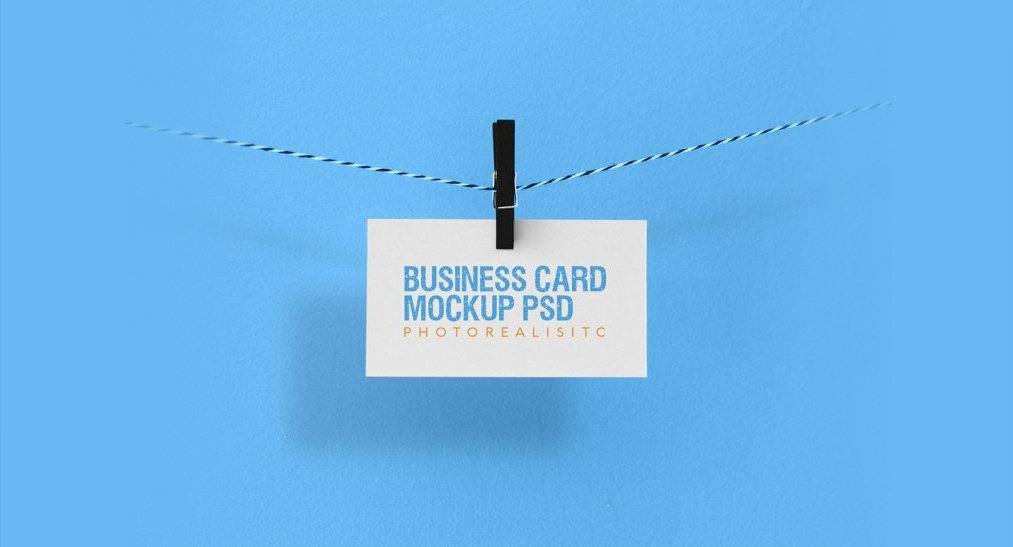 Free Stylish Photorealistic Business Card Mockup PSD
