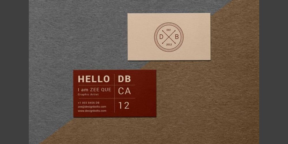 Free Textured Business Card