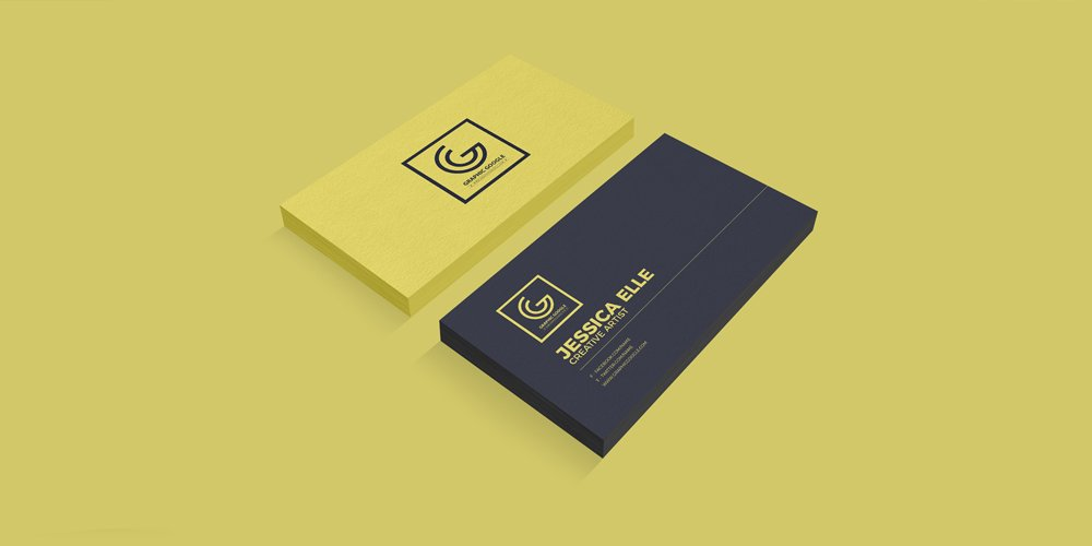 Free Textured Front & Back Business Card Mockup PSD
