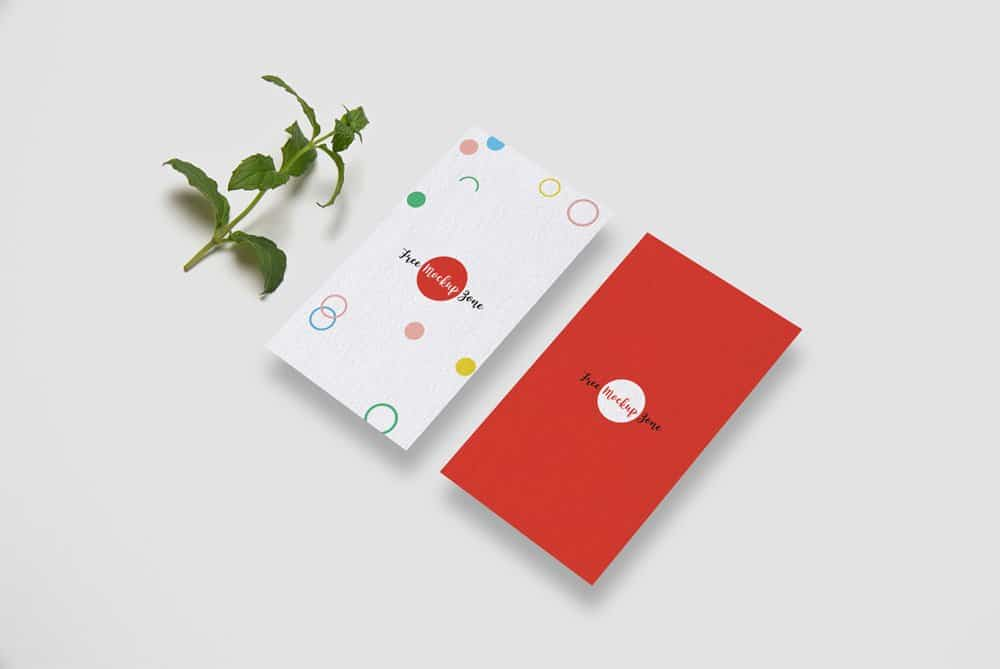 Free Vertical Business Card Mockup PSD