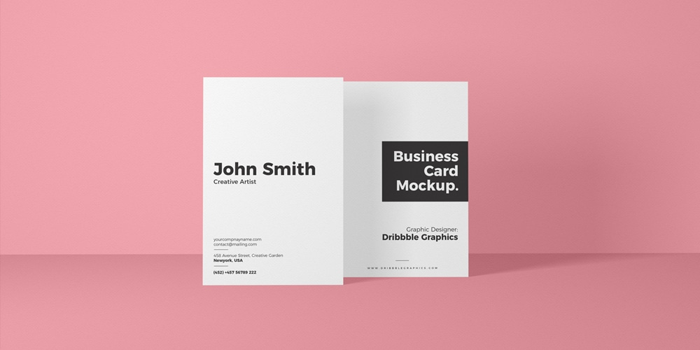 Free Vertical Front View Business Card