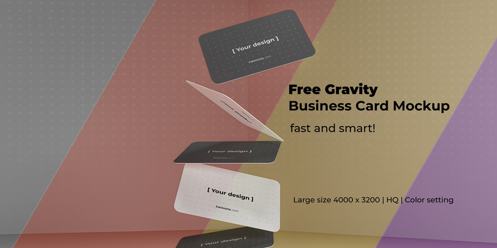 Gravity Business Card Mockup