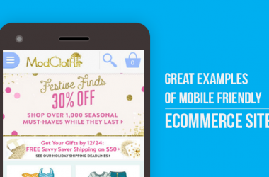 Great Examples of Mobile Friendly Ecommerce Sites