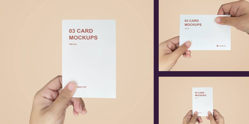 Hand Held Business Card Mockups