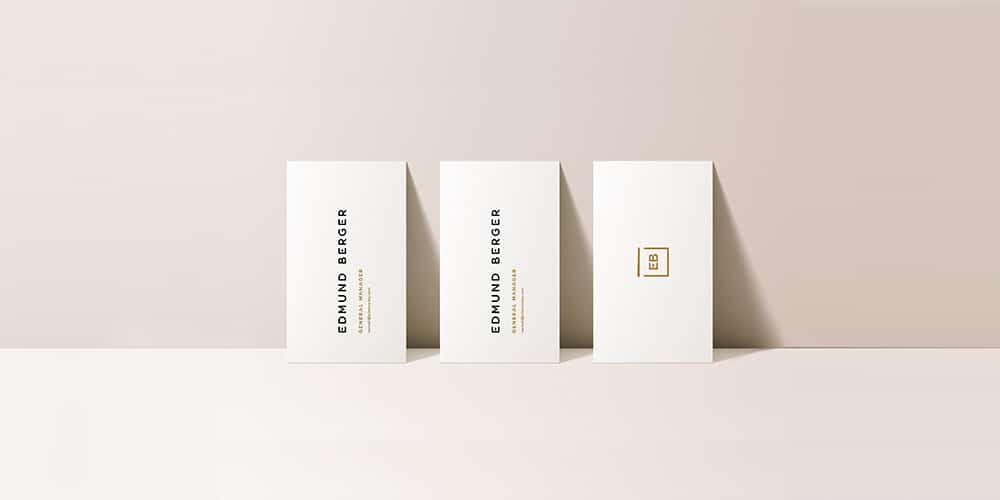High Resolution Business Card Mockups