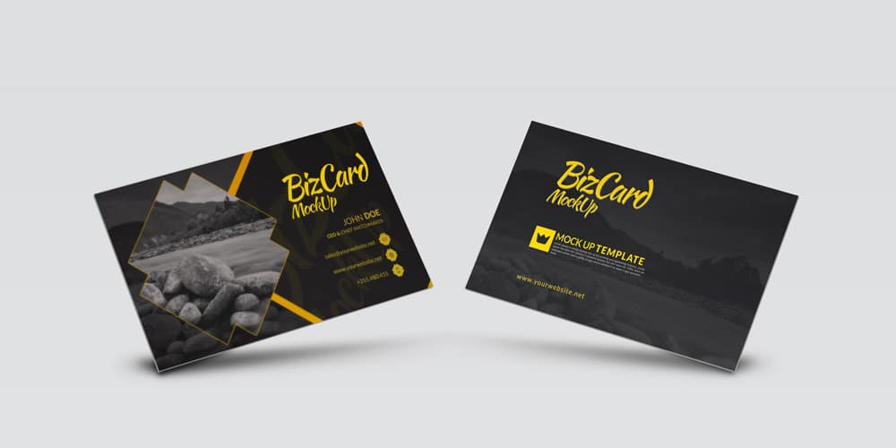 High Resolution Photo Realistic Business Card Mockup PSD