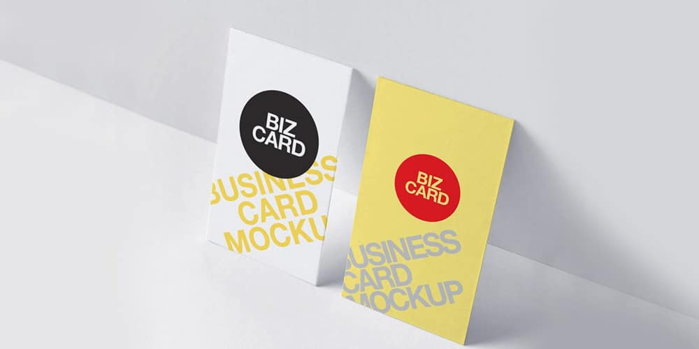 High Resolution Vertical Business Card Mockup
