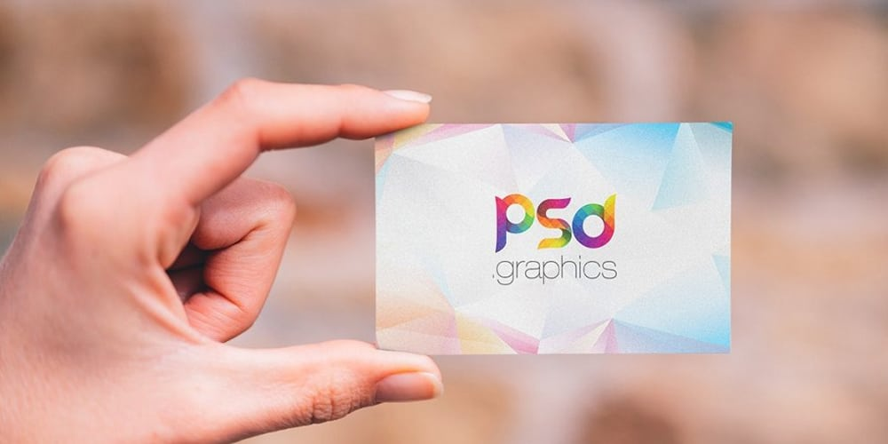 Holding Business Card Mockup Template