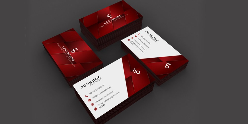Horizontal & Vertical Free Business Card Mockup PSD
