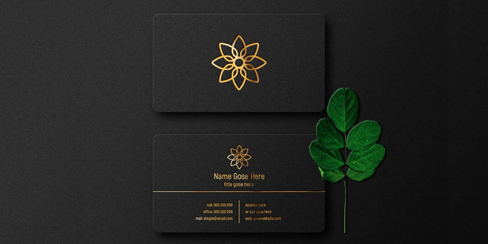 Luxury Letterpress Business Card Mockup