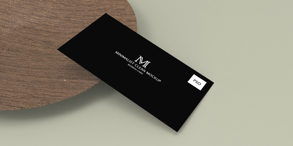 Minimalist Clean Business Card Mockup