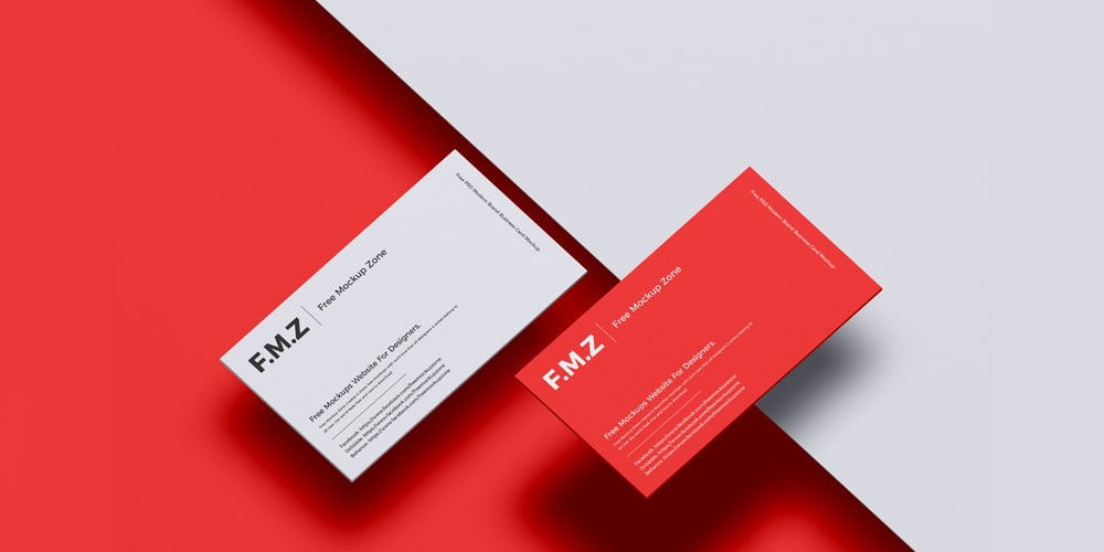 Modern Brand Business Card Mockup