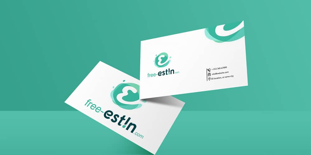 Modern Business Card Mockup PSD