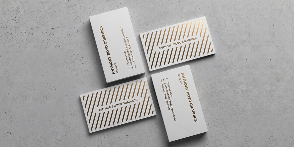 Modern Business Card Showcase Mockup PSD