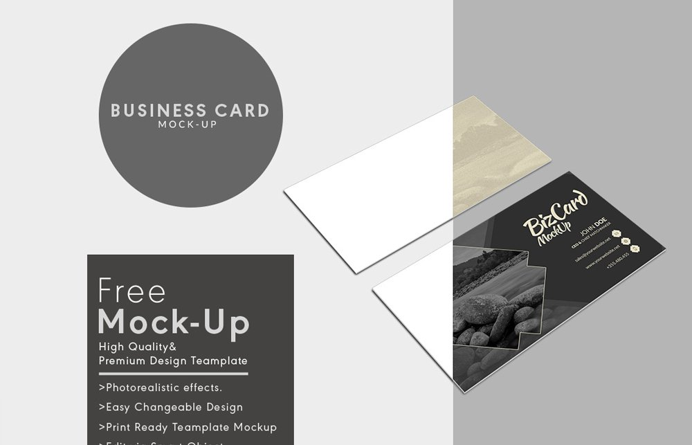 100 free business card mockup psd a css author