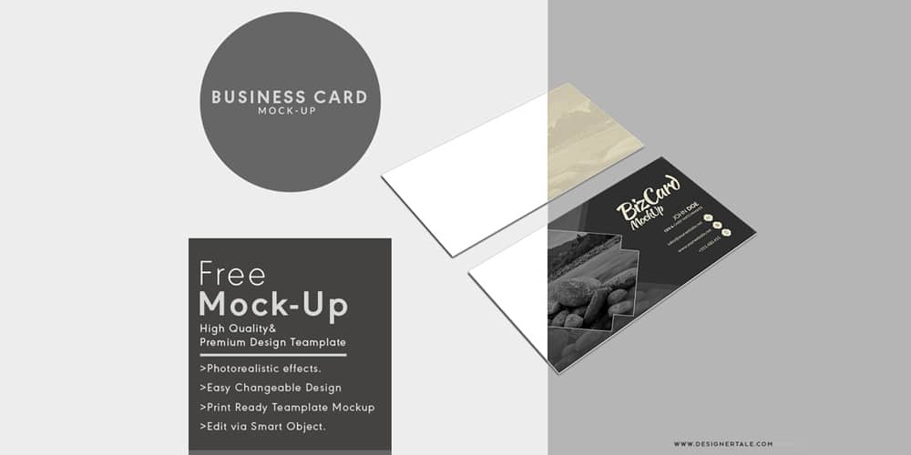 Multiple Business Card Mock Up Template