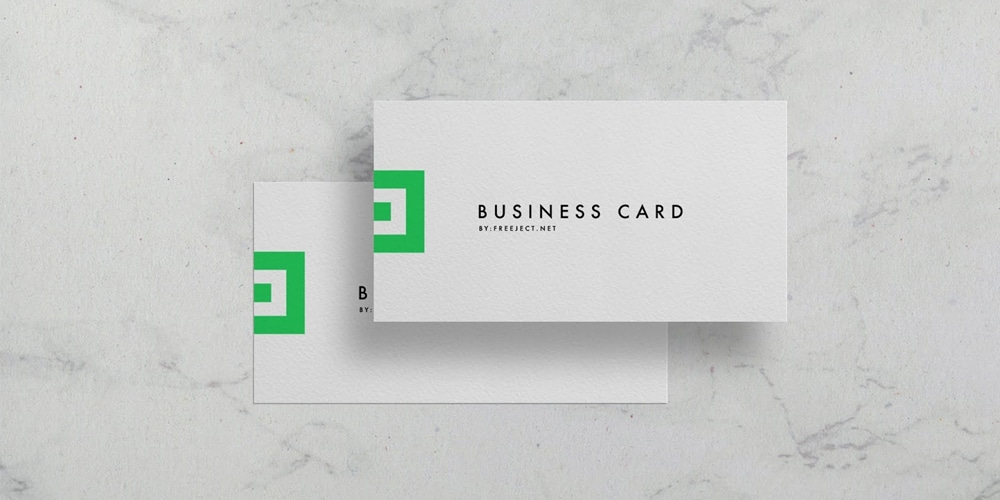 Natural Paper Texture Business Card Mockup