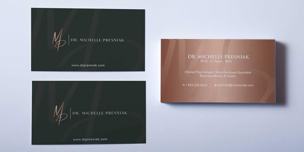 Over Head Business Card Mockup