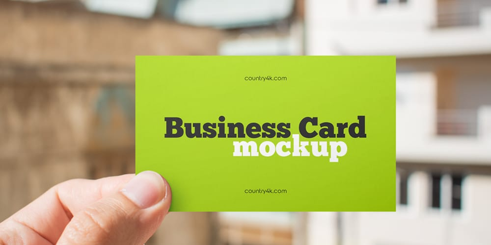 Paper Business Card Mockup