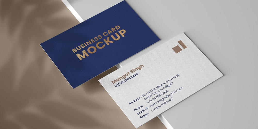 Personal Business card mockup