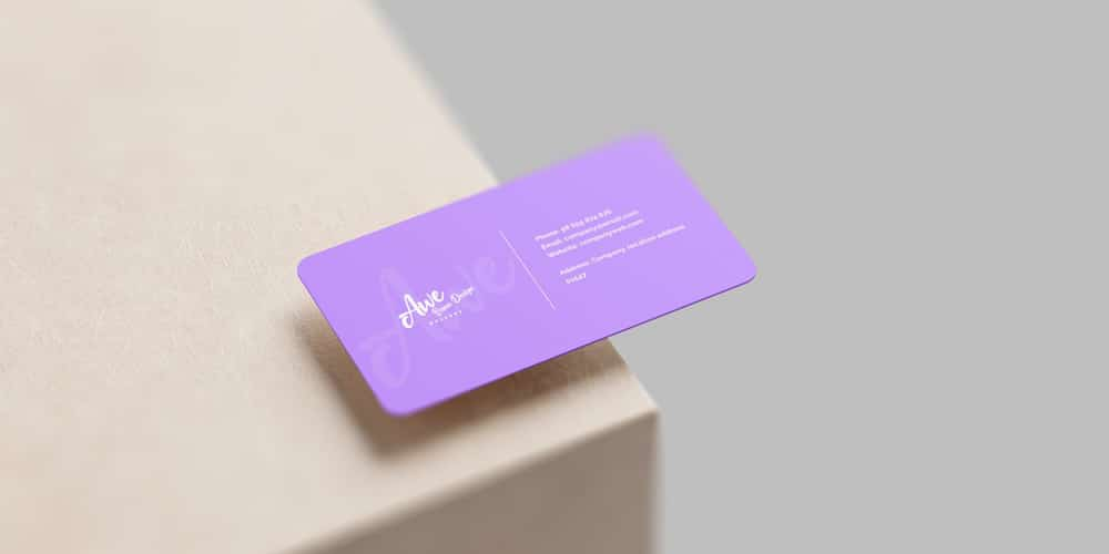 Photo realistic Business card Mockup Scene