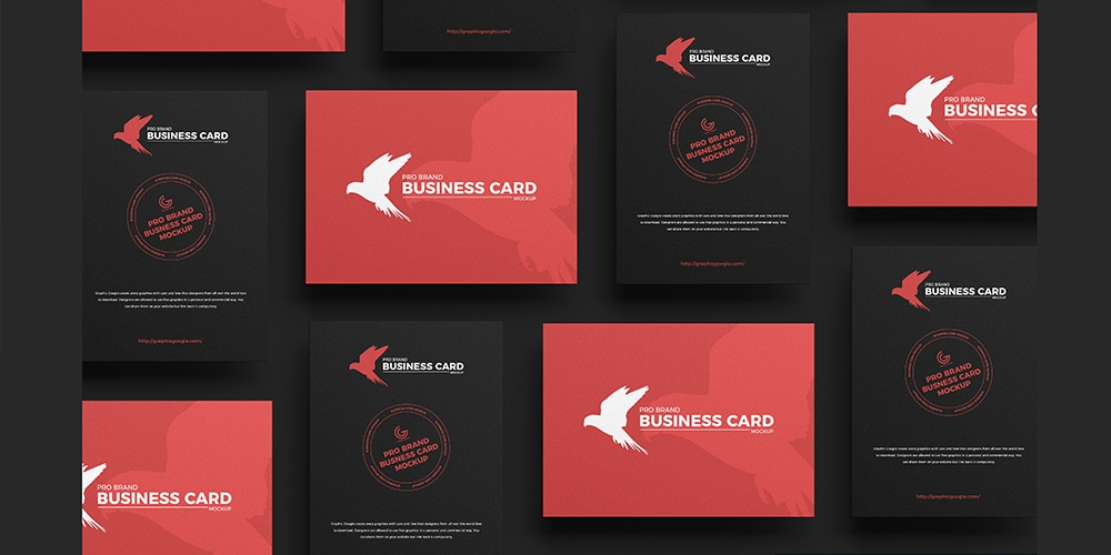 Pro Brand Business Card Mockup