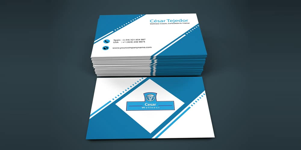 Professional and Corporate Business Card Mockup