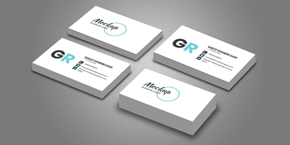 Realistic Business Card Mock-up PSD