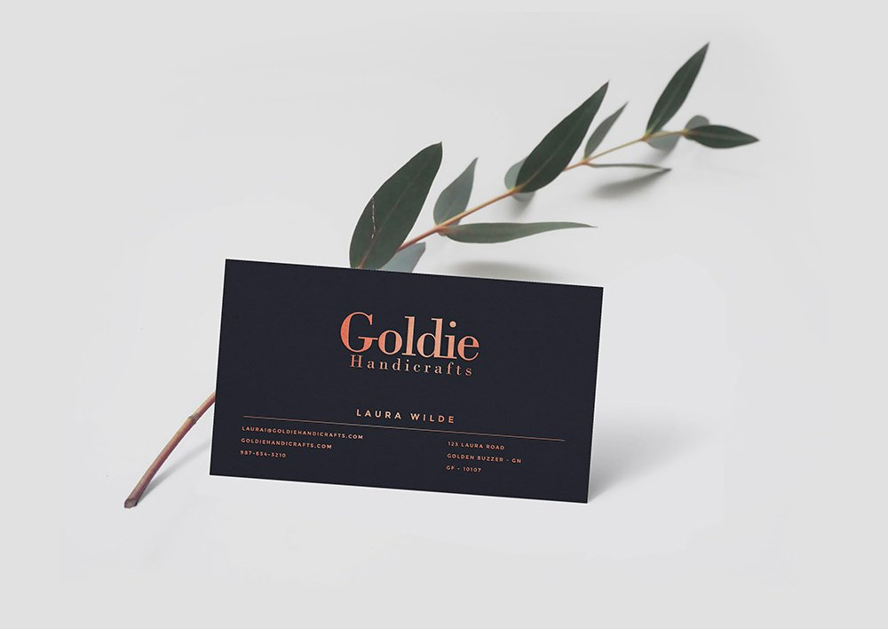 Realistic Business Card Mockup PSD