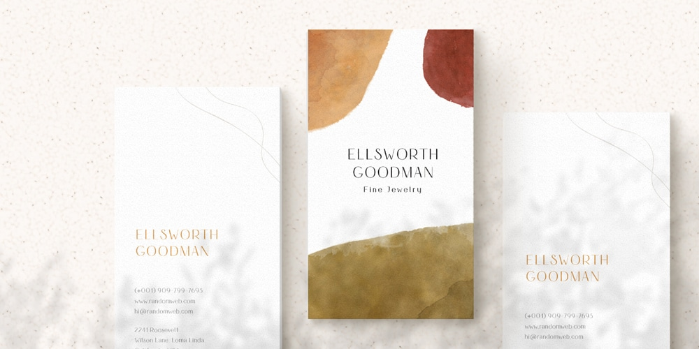 Realistic Vertical Business Card Mockup PSD
