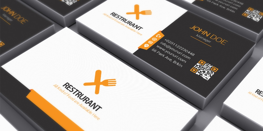 Restaurants Business Card Mockup