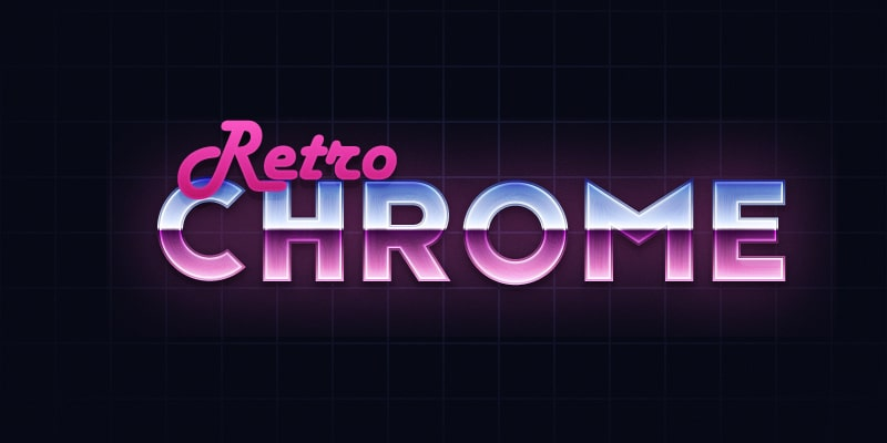 Retro Chrome Text Effect
