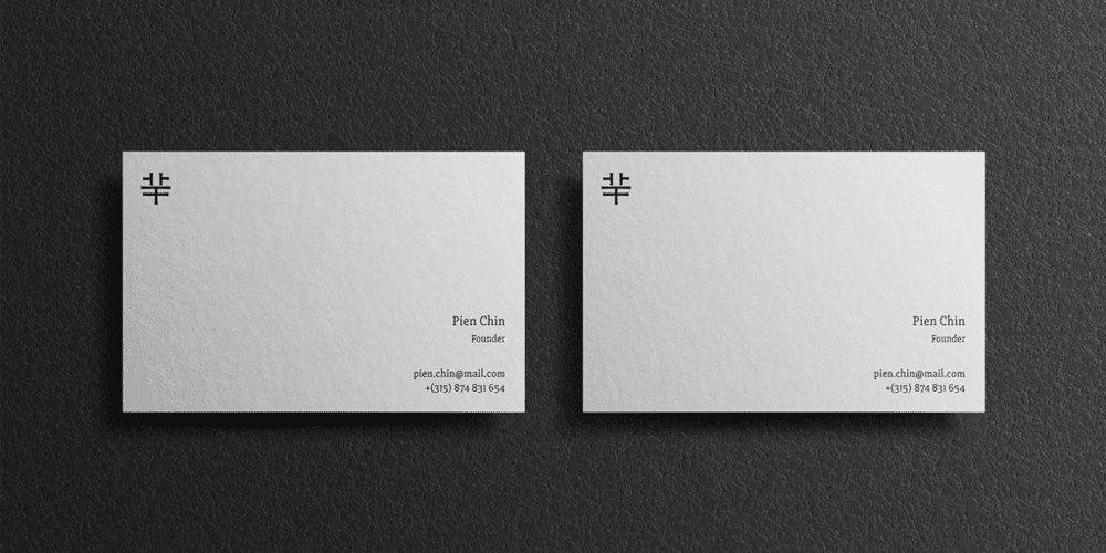 Set of Business Cards Mockups PSD