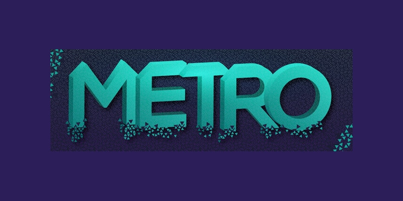 Shattered 3D Geometric Text Effect
