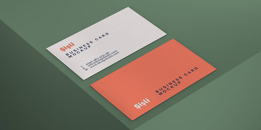 Simple Photorealistic Business Card Mockup