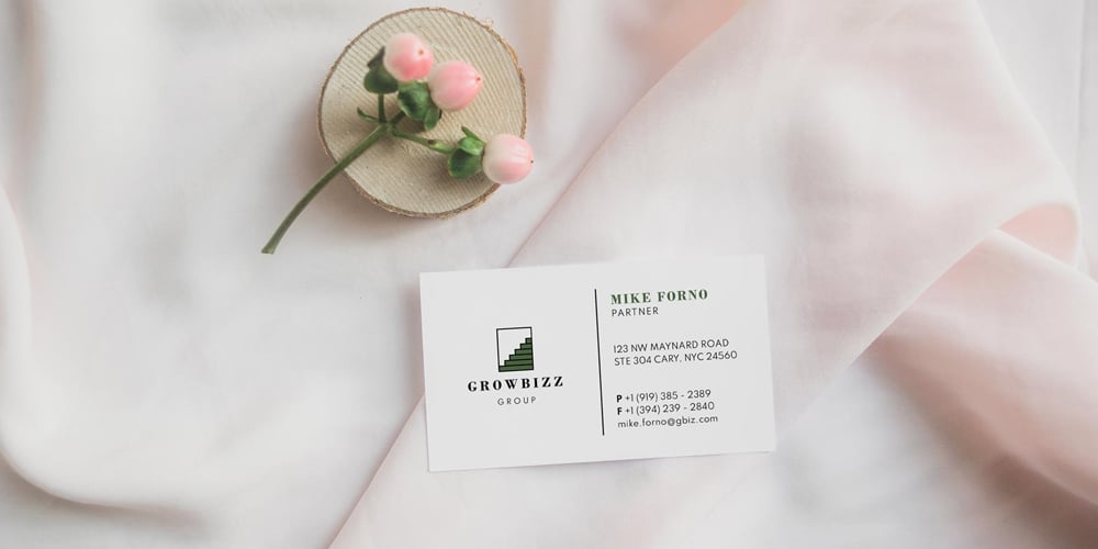 Sophisticated Business Card Design Mockup