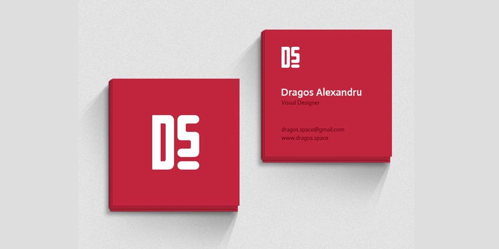 Square Business Card Mockup Template PSD