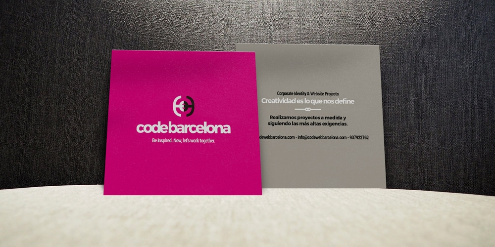 Squared Business Card Mockup