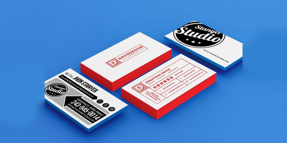 Stack of Business Card Mockup