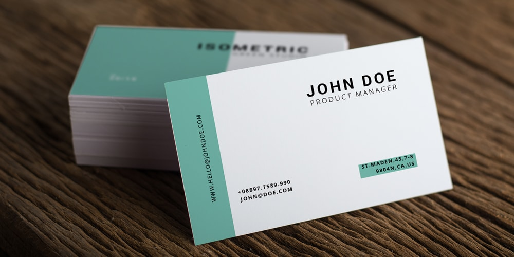 Stacked Business Card Mockup Template