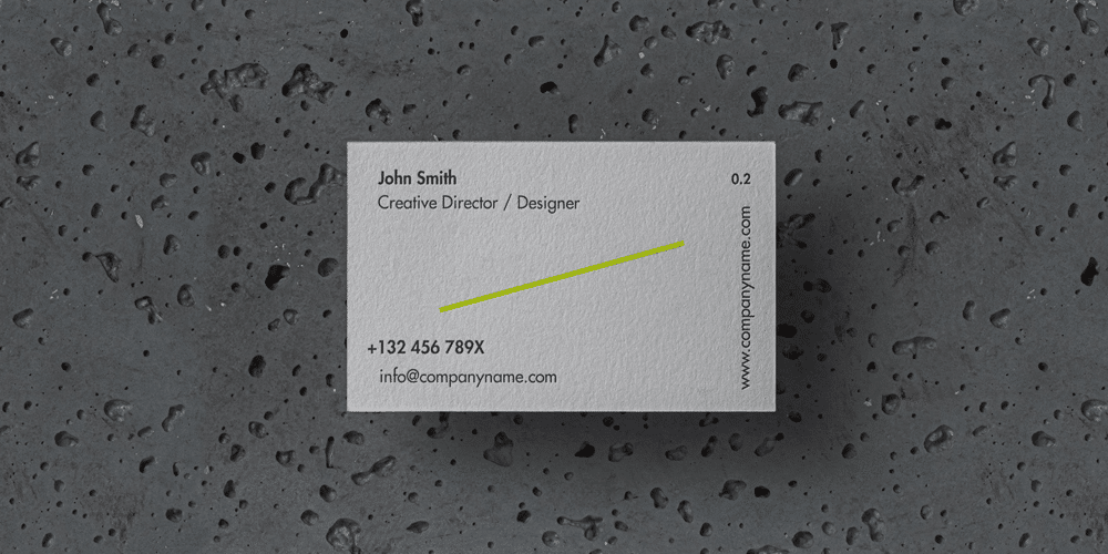 Stone Business Card Mockup